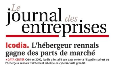 L'édition Ille et Vilaine du Journal des entreprises évoque la croissance et le label d'Icodia