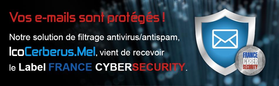 Icodia reçoit le label France Cybersecurity pour sa solution de filtrage email antivirus et antispam
